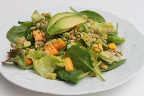 Spinach Avocado Mango Salad*